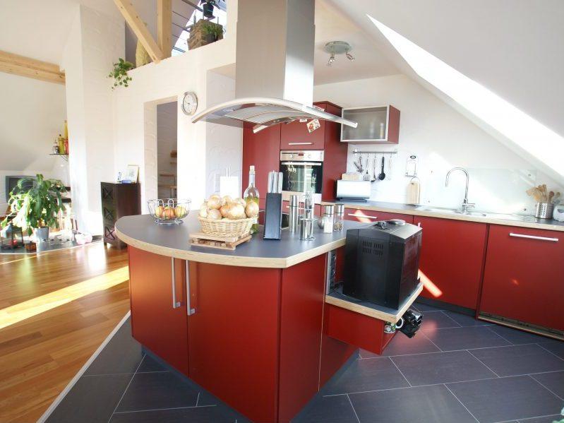 Einbauküche rot-Schreinerei Gerards-Schreiner in Bonn