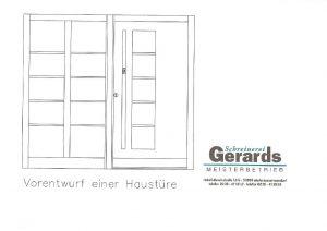 Haustür-Entwurf-Schreinerei Gerards